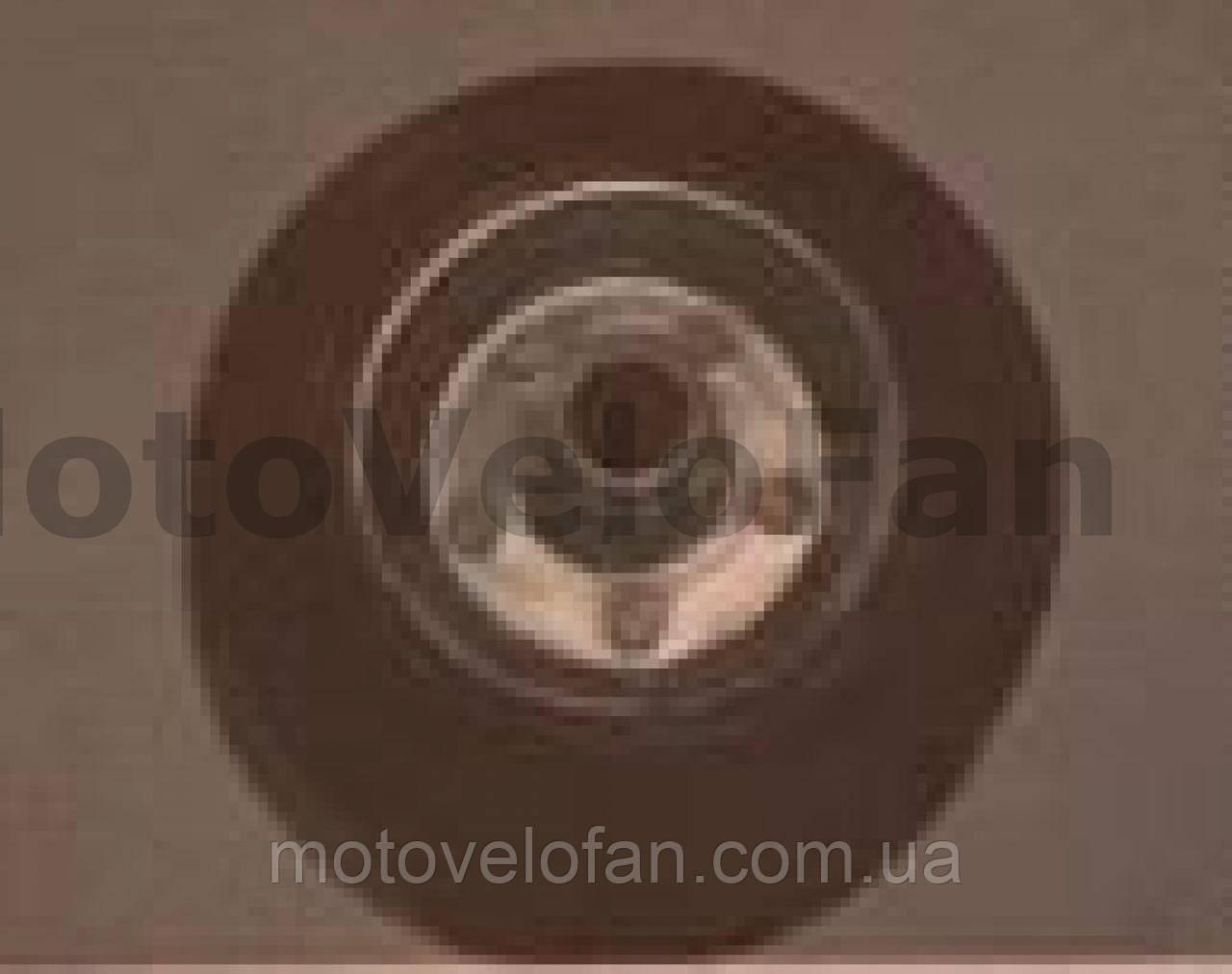 Колесо для тачек и платформ (литая резина)   (160/40- 80mm, игольчатый подшипник)   MRHD