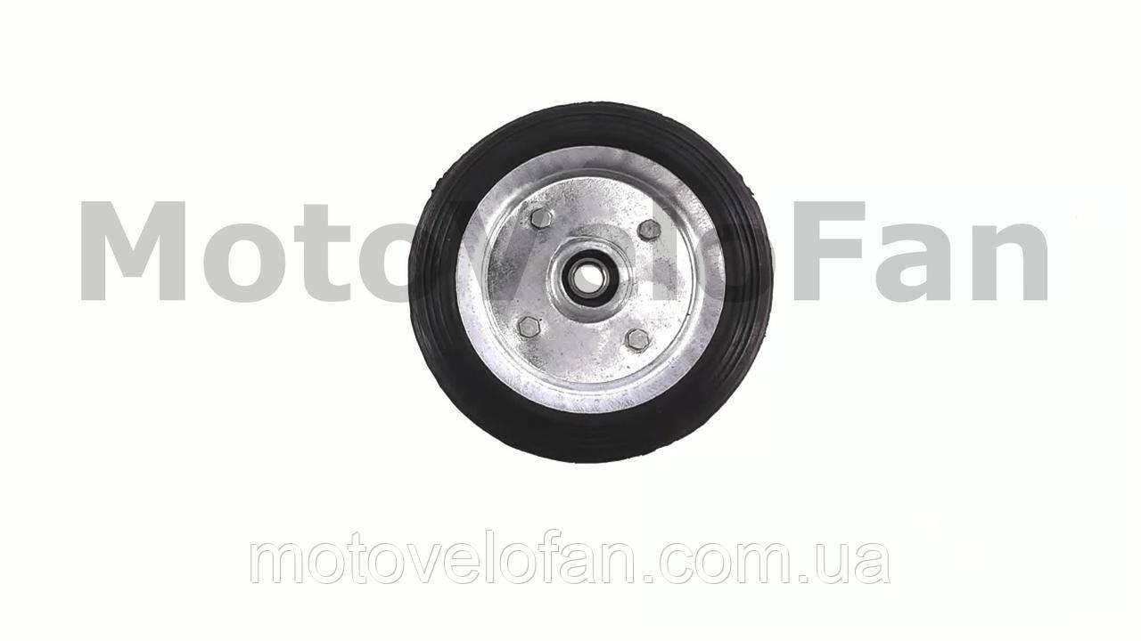 Колесо для тачек и платформ (литая резина)   (160mm, под ось 12mm)   MRHD
