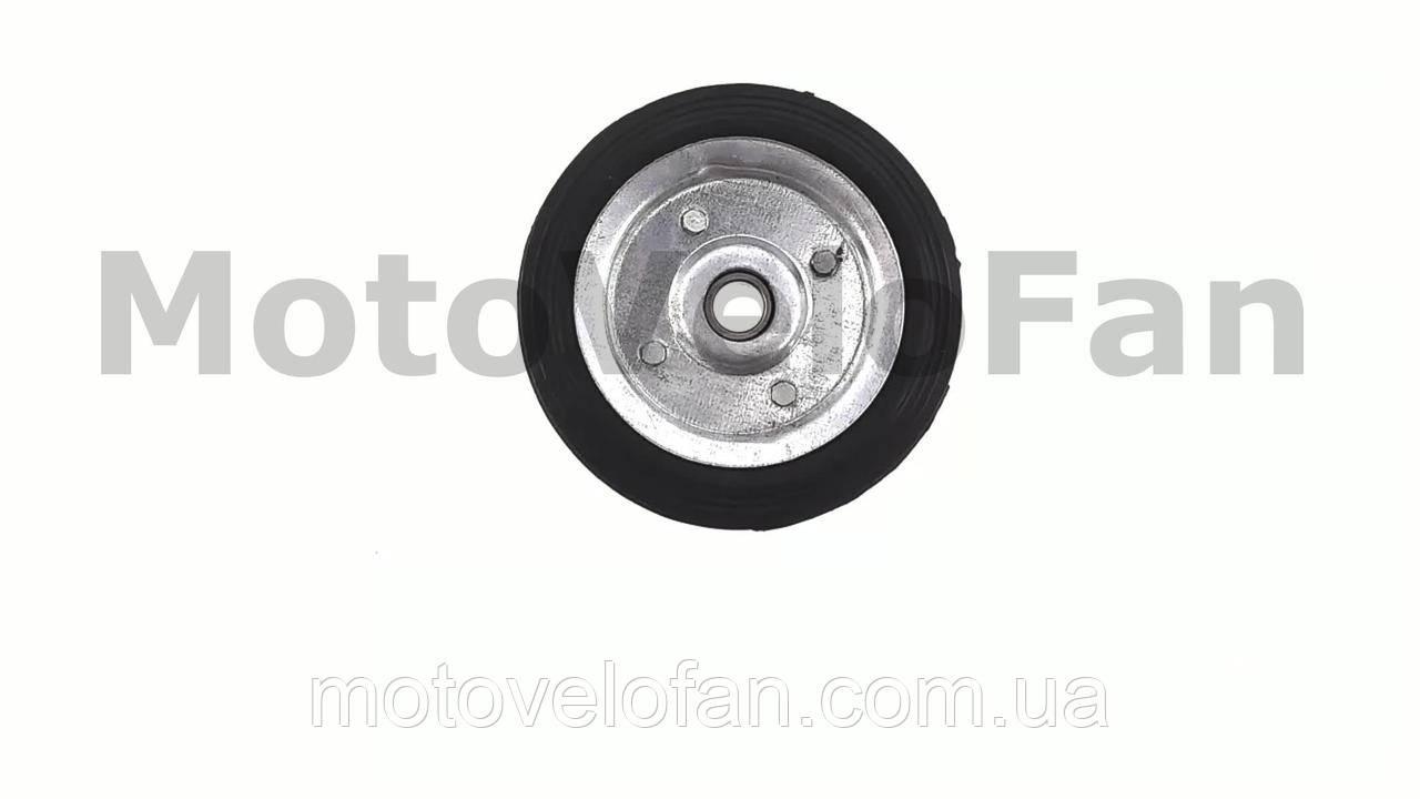 Колесо для тачек и платформ (литая резина)   (160mm, под ось 17mm)   MRHD