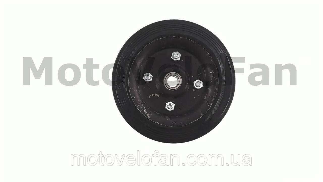 Колесо для тачек и платформ (литая резина)   (180/50- 100mm, под ось 17mm) (2 подшипника)   MRHD