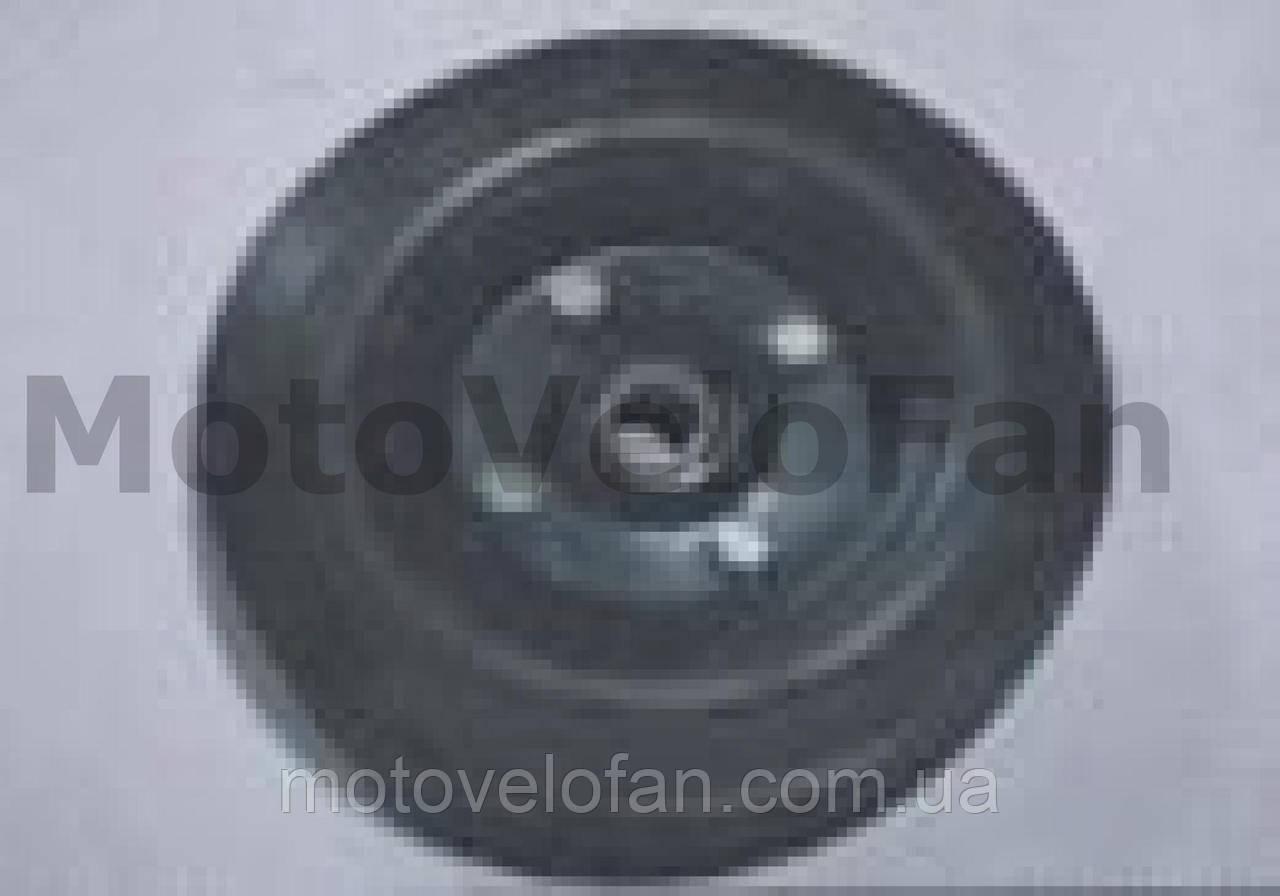 Колесо для тачек и платформ (литая резина)   (200/50- 100mm, под ось 17mm) (2 подшипника)   MRHD