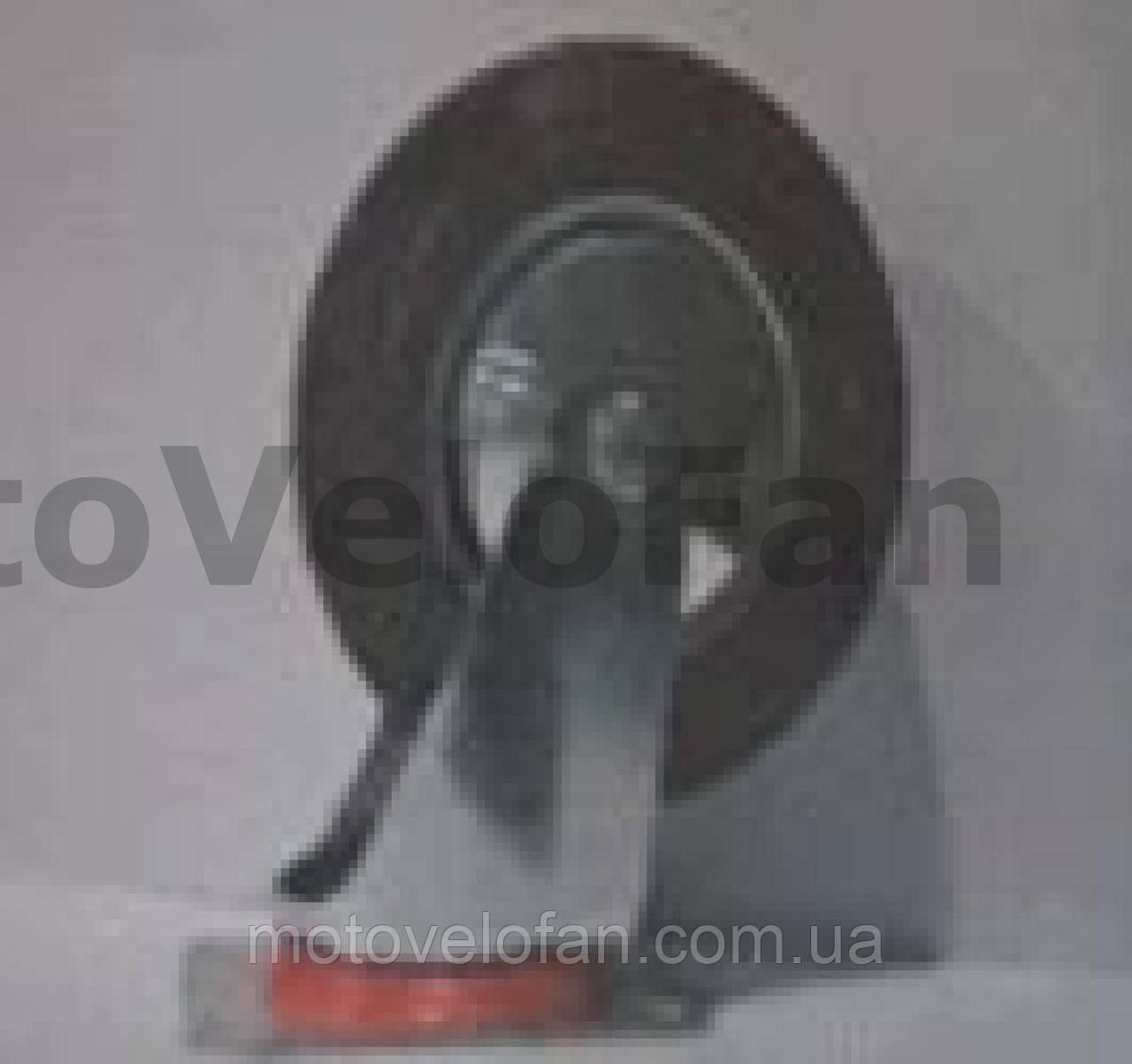 Колесо для тачек и платформ (литая резина) (в сборе с креплением, поворотное)   (160/40-80mm)   MRHD