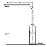 AquaSanita Signa 2083 хром кухонний змішувач одинважільний, фото 3