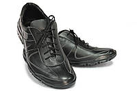 Кожаные мужские туфли спортивного плана