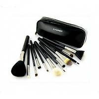 Кисти для макияжа 12 штук MAC черные