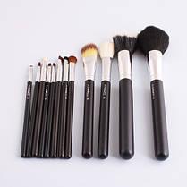 Косметические кисти женские для макияжа 12 штук MAS   Наборы кистей для макияжа реплика, фото 3