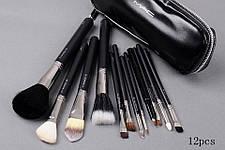Кисти для макияжа 12 штук MAC черные реплика, фото 2