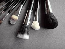 Кисти для макияжа 12 штук MAC черные реплика, фото 3