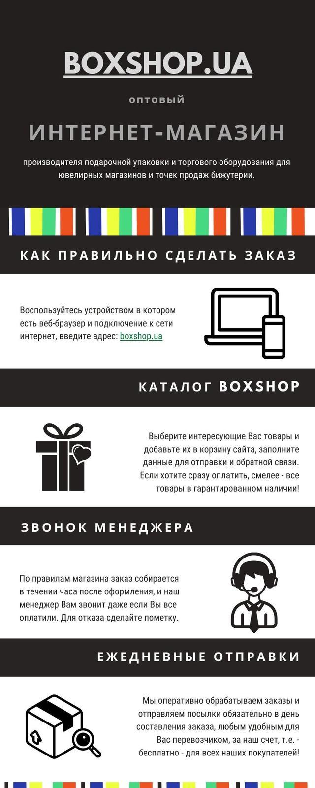 """Инфографика """"Boxshop - оптовый интернет-магазин упаковки и оборудования"""""""