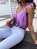 Женская летняя кофточка. Цвет: белый, чёрный, сирень, пудра, фото 3
