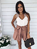 Женская летняя кофточка. Цвет: белый, чёрный, сирень, пудра, фото 4