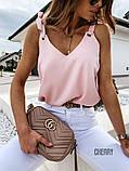 Женская летняя кофточка. Цвет: белый, чёрный, сирень, пудра, фото 6