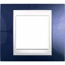 Рамка 1 пост. Unica Plus індиго /білий MGU6.002.842
