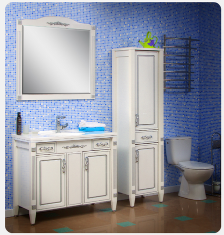 Комплект мебели для ванной Romance патина