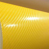 Карбоновая пленка желтая 4d под лаком 1,52 м