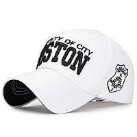Кепка бейсболка Boston Белая 2, Унисекс, фото 1