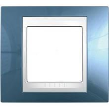 Рамка 1 пост. Unica Plus блакитний лід /білий MGU6.002.854