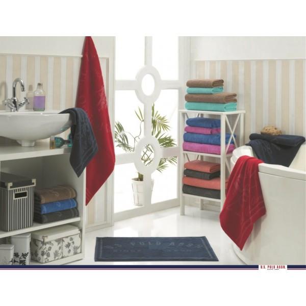 Набор 4 полотенца и коврик U.S.Polo Assn - Bradenton розовый/голубой 50*100(2)+70*140(2)ков.50*70