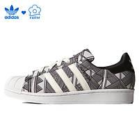 Женские кроссовки Adidas Superstar Print черно-белые, фото 1