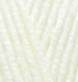 Турецкая пряжа Alize Superlana Maxi для ручного вязания полушерсть молочный №62