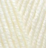Турецкая пряжа Alize Superlana Maxi для ручного вязания полушерсть кремовый №1