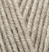 Турецкая пряжа Alize Superlana Maxi для ручного вязания полушерсть бежевый меланж №152