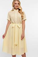 Платье на лето молочного цвета больших размеров. Женские платья.