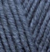 Турецкая пряжа Alize Superlana Maxi для ручного вязания полушерсть джинс меланж №203