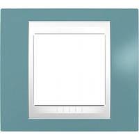 Рамка 1 пост. Unica Plus синий /белый MGU6.002.873