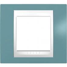 Рамка 1 пост. Unica Plus синій /білий MGU6.002.873