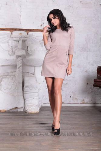 Платье женское велюр