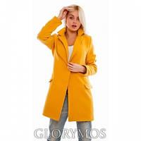 """Пальто женское """"Oversize""""оранж,кашемировое пальто"""