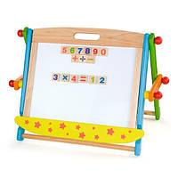 Доска Viga Toys магнитно-маркерная на подставке (59075), фото 1