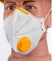 Респиратор маска Микрон FFP2 с клапаном Белый с желтым (ip1094)