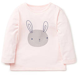 Лонгслив для девочки Кролик, розовый Jumping Beans (2 года) 7 лет, 128