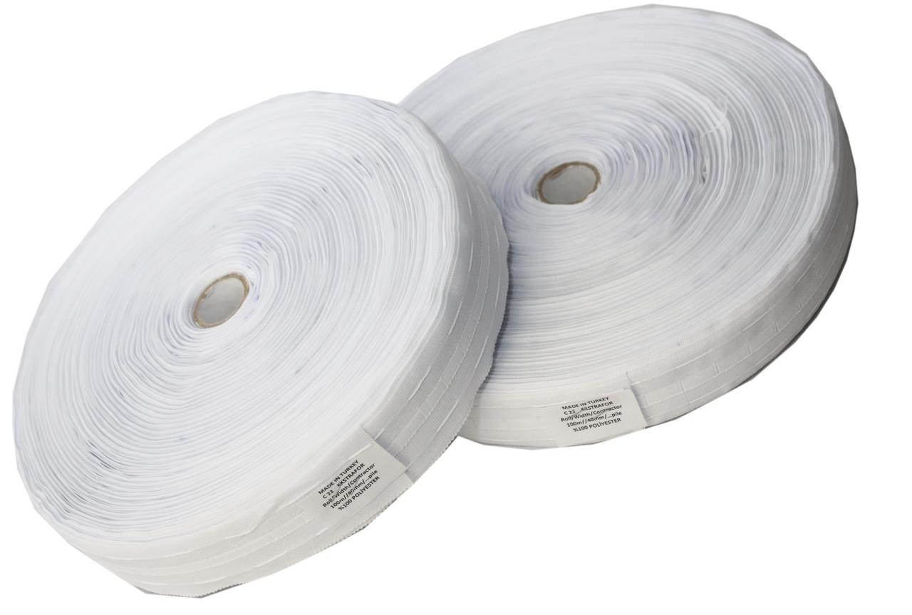 Шторная лента (40mm/100m) хлопок 100%, тесьма для штор
