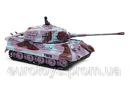 Танк микро р/у 1:72 King Tiger со звуком (фиолетовый, 35 МГц)