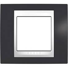 Рамка 1 пост. Unica Plus сіро-зелений /білий MGU6.002.877