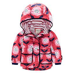 Куртка для девочки Цветы Meanbear (90) 9-10 лет, 134