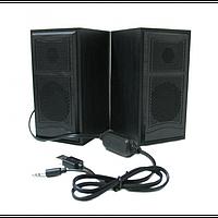 Компьютерные деревянные колонки акустика FT 102 ЧЁРНЫЕ, фото 1