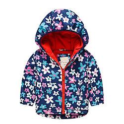 Куртка для девочки демисезонная Цветы Meanbear (100)