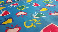 Сердечки разноцветные махровая ткань ширина 200 см