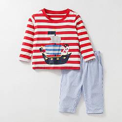 Костюм 2 в 1 для мальчика Пиратский корабль Little Maven (2 года) 7 лет, 128