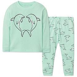 Пижама детская Дельфины Wibbly pigbaby (90) 3 года, Мальчикам, 95, 95