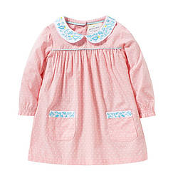 Платье для девочки Маленький горошек, розовый Jumping Beans (2 года) 6 лет, 116