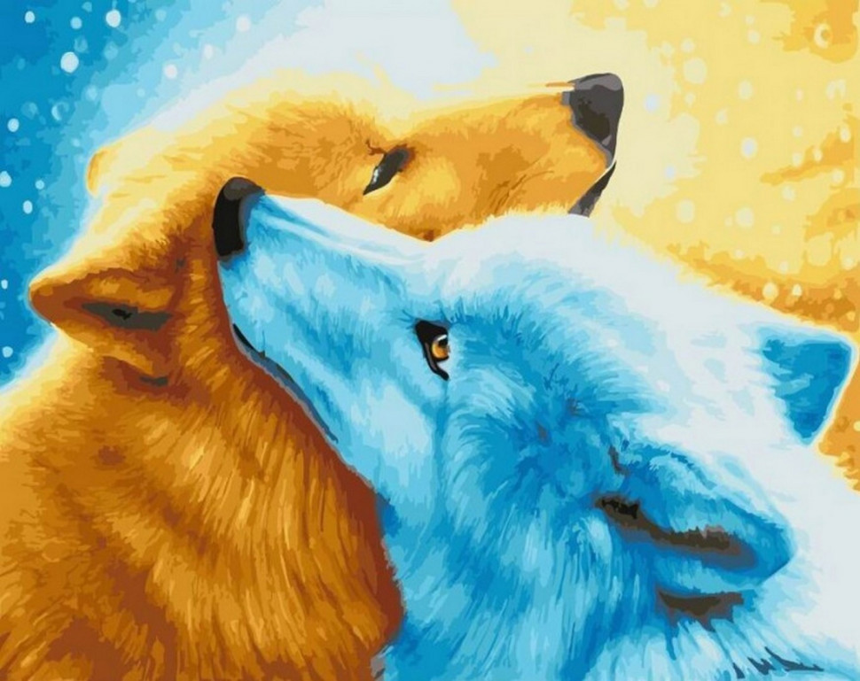 "Картина по номерам. Rainbow Art ""Волчья верность"" GX21927-RA"