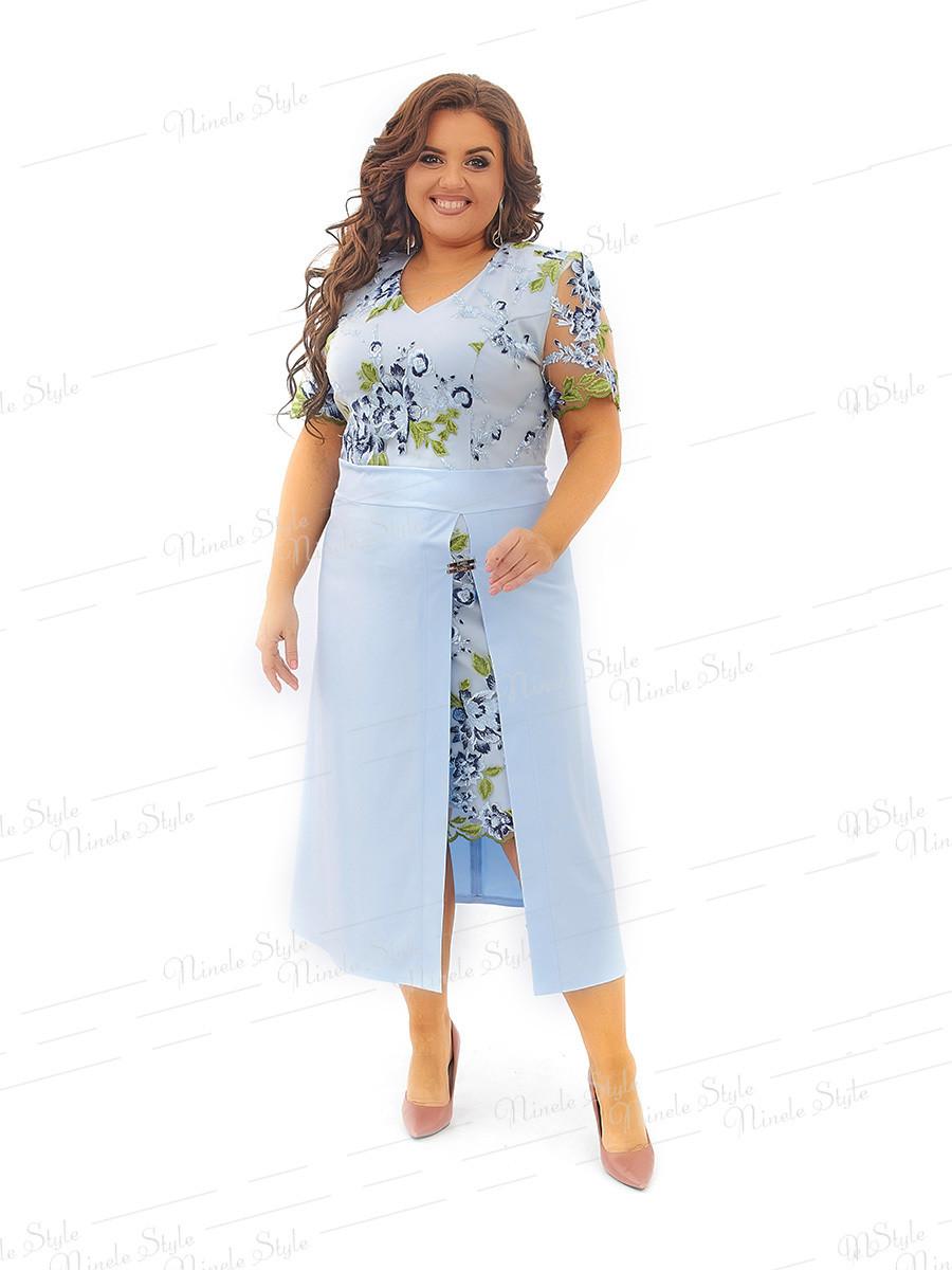 Нарядное летнее платье 442 54