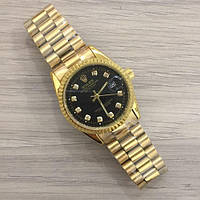 Часы Rolex Date Just New Gold-Black SKL39-225480