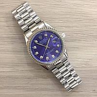 Часы Rolex Date Just New Silver-Blue SKL39-225476