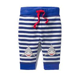 Штаны для мальчика Акула Jumping Meters (2 года) 7 лет, 128, Животные, Белый